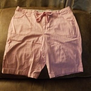 Pink with Strips Shorts  Size 4